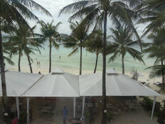 The District Boracay:                                     view of the beach from the 3rd floor common terrace