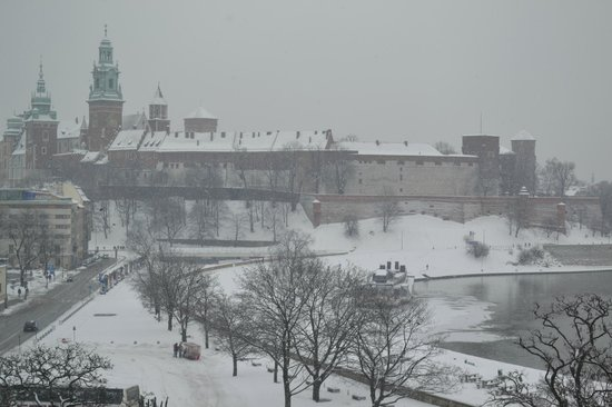 Hotel Kossak:                                     View of castle from our room on 5th floor