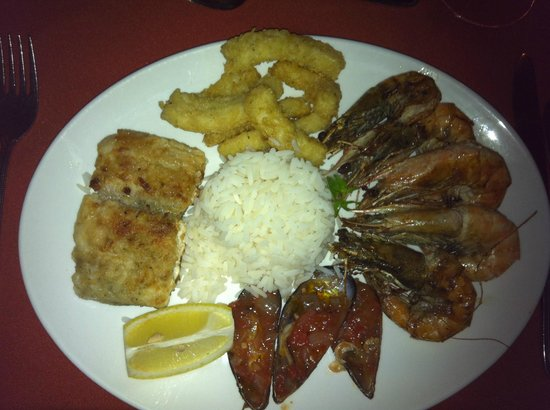 Mbotyi River Lodge:                   The delicious seafood platter