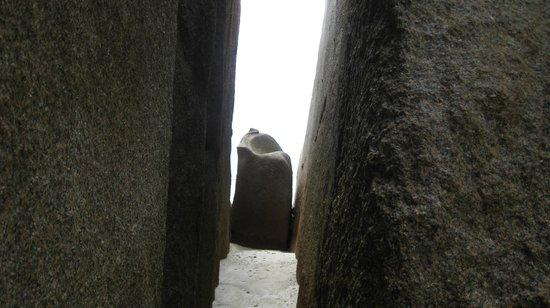 Anse Source D'Argent :                                     Walk through the stones