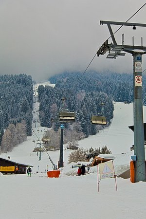 Ellmau Ski Resort and Village:                   Main Going Ski chair lift