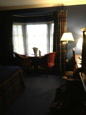 Champany Inn:                   room quite dark but cosy