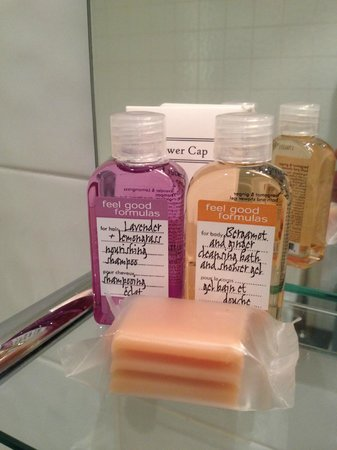 Champany Inn:                   nice toiletries but not renewed when empty