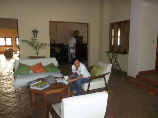 Hotel Casa de Campo Pedasi:                                                       Yuri hard at work!