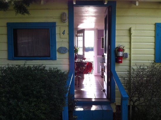 Mermaids Landing:                   View through cottage door to waterfront