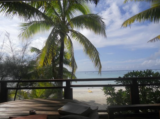 Aitutaki Seaside:                   View from the terrace