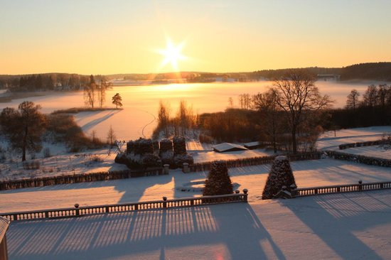 Hedenlunda Slott: View from the castel Winter time