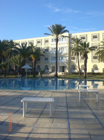 Hotel Marhaba:                   View of Hotel from pool