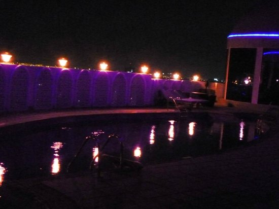 Horizon Manor Hotel: View of the pool at 4am. Freezing in Dec.