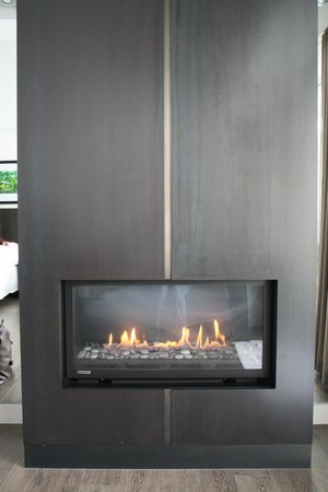Taboo Muskoka Resort:                   Fireplace in room