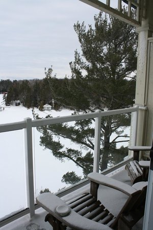 Taboo Muskoka Resort:                   Our balcony
