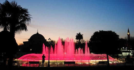 Diva's Hotel:                                     fountains near Aya Sofia