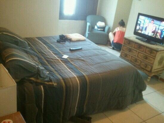 Flying Dog Hostel Arequipa:                   habitacion matrimonial con baño privado y tv cable