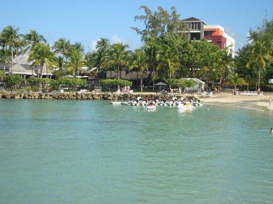 La Creole Beach Hotel:                   vue de la digue