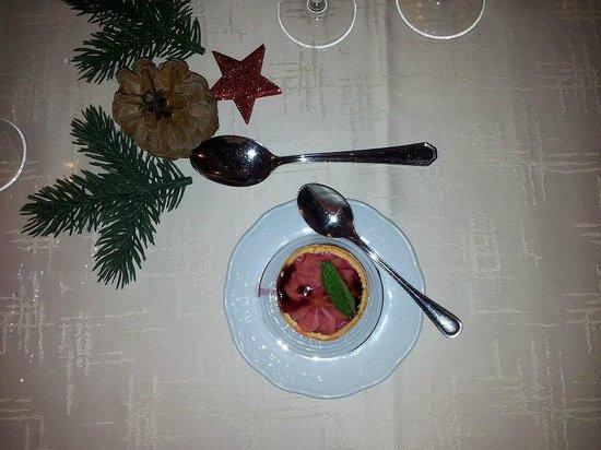 Gasthof Zum Goldenen Löwen:                   Kerst bloedsinaasappel sorbet