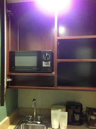 SpringHill Suites State College:                   Microwave and sink above the fridge