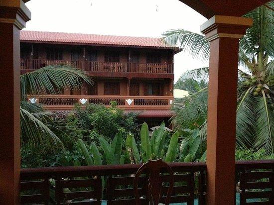 Bayon Garden Guesthouse:                   Blick von der Terrasse