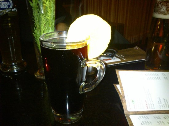 Eastern Comfort Hostelboat:                   the lovely mulled wine in the lounge bar