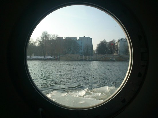 Eastern Comfort Hostelboat:                   lots of ice, lovely view