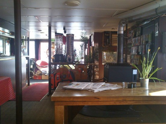 Eastern Comfort Hostelboat:                   breakfast/reception area