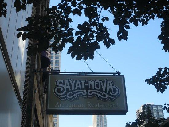 Sayat Nova : Just off Michigan Ave.