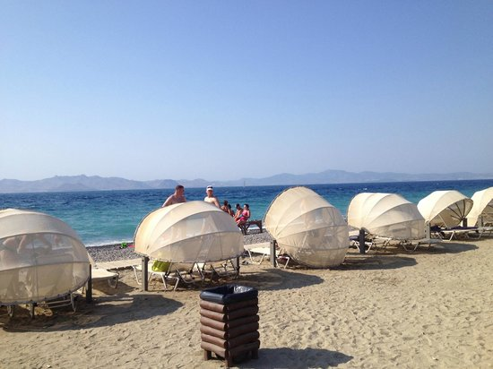 Kipriotis Village Resort:                   Beach pods!