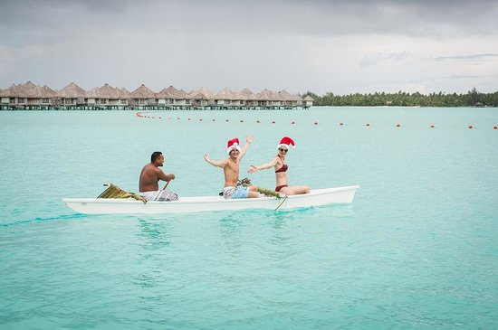 The St. Regis Bora Bora Resort:                                     Christmas Morning on the Brekkie Kayak