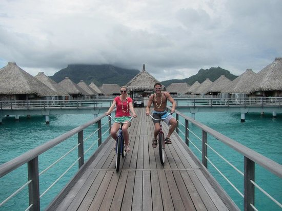 The St. Regis Bora Bora Resort:                                     Community Bikes are located across the resort