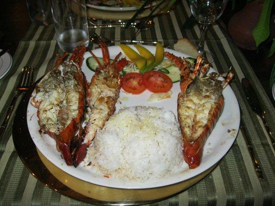 Ocean Village Club: Repas langouste