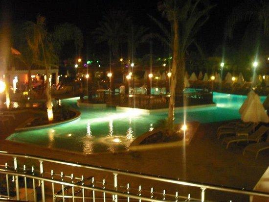Olympic Lagoon Resort:                   main pool at night