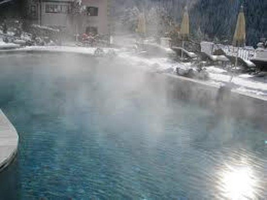 Alpin Garden Wellness Resort - Adults Only:                   la piscina tra la neve
