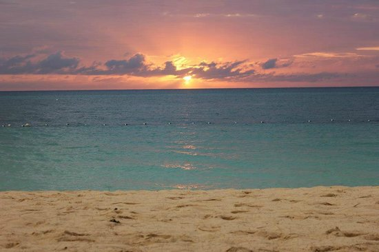Villas of the Galleon:                   Sunset from the private beach