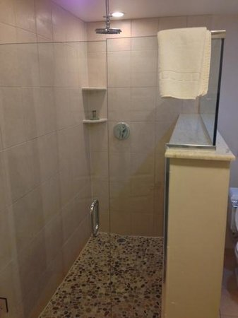 The Freeport Inn and Marina: very nice shower, 35
