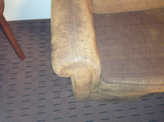 Stratosphere Hotel, Casino and Tower:                                                       Dirty moldy chair in sitting area, didn't