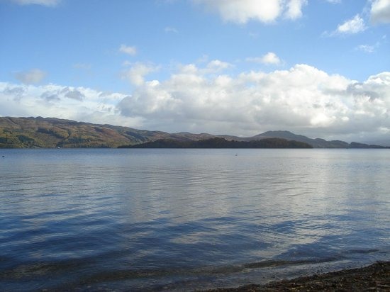 Lodge on Loch Lomond:                   balcony view