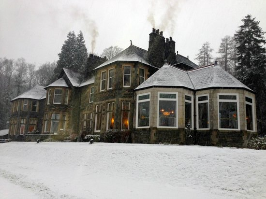 Merewood Country House Hotel:                   The hotel in heavy snowfall