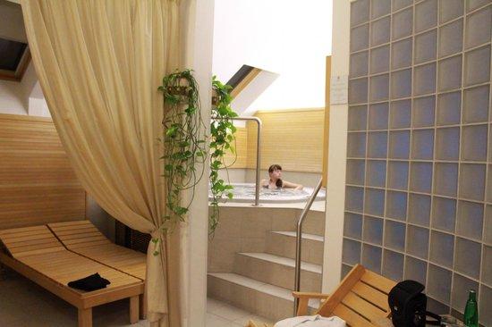 Boutique Hotel Seven Days:                   Джакузи в зоне сауны в отеле