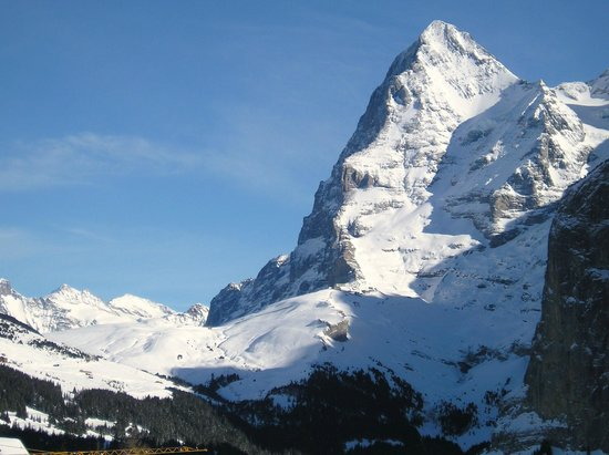 Central Hotel Wolter:                   View from the hotelof the Eiger