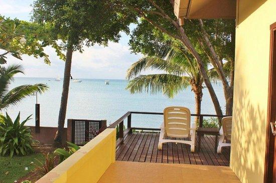Villa Tanamera:                   Beach Front Villa - Porch