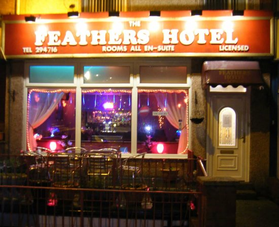 The Feathers Hotel: Our hotel front