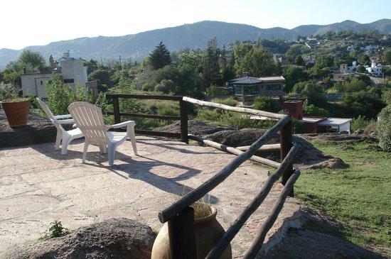 la comarca:                   Terraza de la cabaña