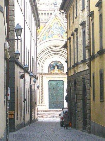 Hotel Corso:                   Church looking down street view