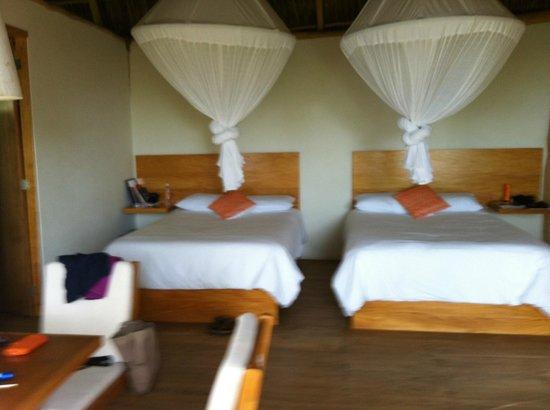 Xinalani Retreat:                   inside view of smaller cabins