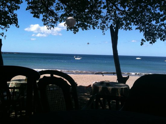 Dale Dagger Surf Lodge:                   Beach view from a local restaurant
