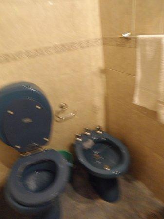 Hotel Pacifico: Baño deprimente
