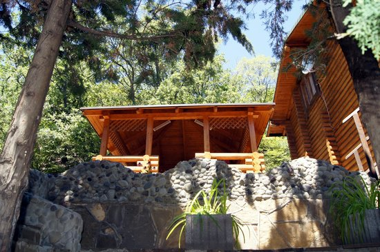 Wooden Gazebo Beside A Log House Picture Of Pansionat Beregovoy