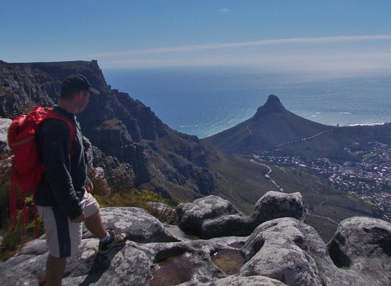 Cape Town Hiking with Tim Lundy -  Tours:                   Looking over the mother city of Cape Town