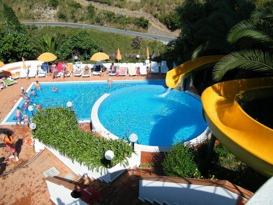 Hotel Corallo:                   Piscina con lo scivolo