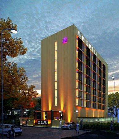 Monotel - Luxury Business Hotel: monotel - night exterior view