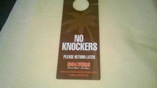 Hooters Casino Hotel:                   There were many cute things like this: